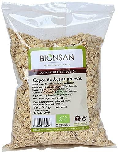 Bionsan Copos de Avena Ecológica Gruesos   4 Paquetes de 500 gr   Total: 2000 gr