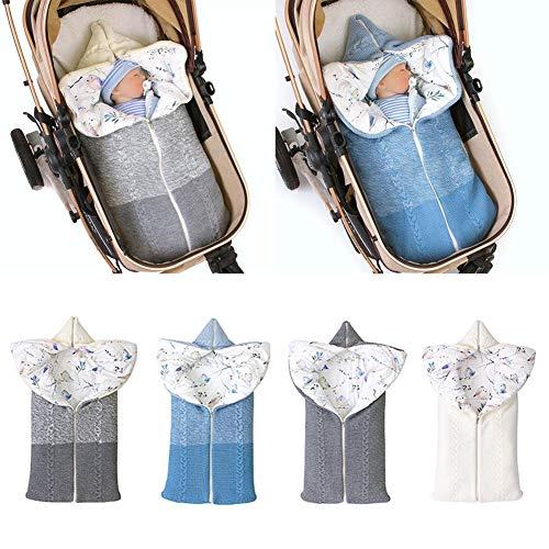Jinclonder Neuester Kinderwagen-slaapzak 2019, winterwarme zachte katoenen voering met ritssluiting voor 0-12 maanden baby