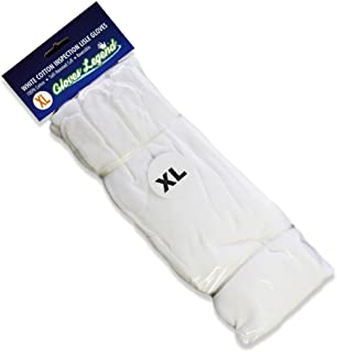 Size Extra Large - 12 Pairs (24 Gloves) Gloves Legend White Coin Jewelry Silver Inspection 100% Cotton Lisle Gloves - Premium Weight