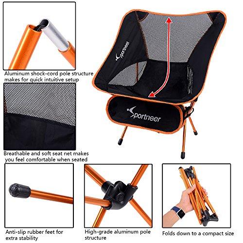 Sportneer Camping Backpacking Chair