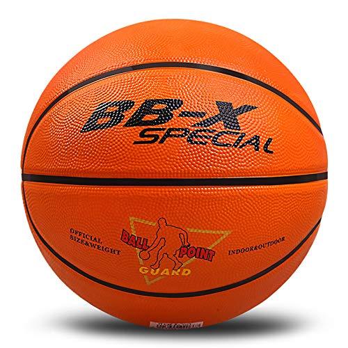 バスケットボール 7号 5号 4号 3号 球 屋外用 屋内用 ゴム 空気入れ (オレンジ, 3号)