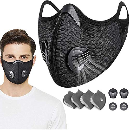 QILU Masks Filters for Coronɑvịrus Protection Washable, Covịd Face Shields for Adults, Workout Masks for Women, Mask with BreathingValve, Mask Filter - for Woodworking