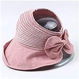XXY El Nuevo Sombrero De Sol Femenino, Coreano, Bárbaro, Arco De Punto Y Evacuante, Sombrero De Copa, Cubierta, Cara, Marea Roja, Red UV Sun Hat Modeling (Color : Pink, Size : M 56-58cm)