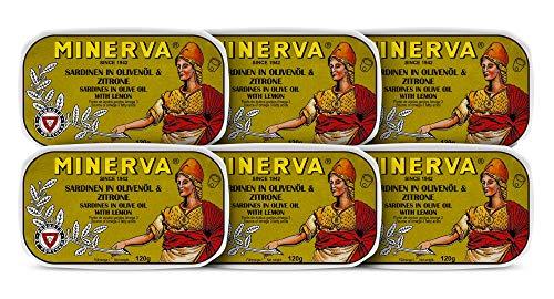 Sardinen in Olivenöl & Zitrone | 6 x 120 g | Minerva | Portugal