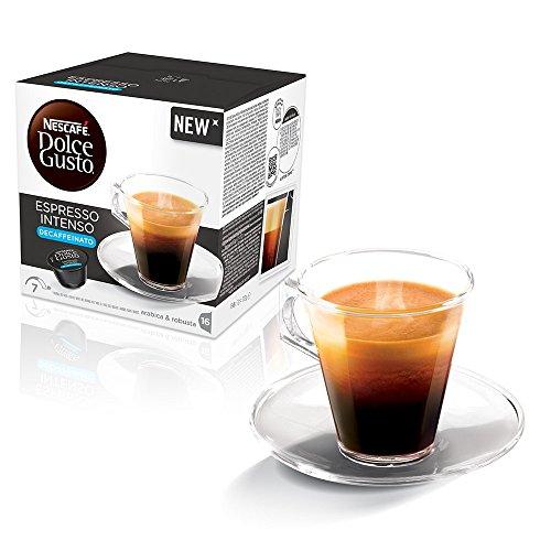 Kaffeepads Kapseln Dolce Gusto Original Nescafe 'Caffe 32 Espresso Intenso DECAFFEINATO