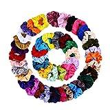 45 Colores Velvet Elástico Hair Scrunchies, Lazos Elásticos De Banda Pelo Str...