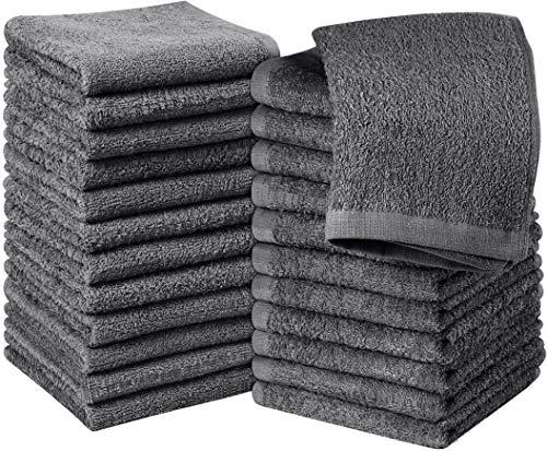Utopia Towels - 24er Set Seiftücher, 30x30 cm, Washclappen aus 100% Baumwolle, 600g/qm, grau