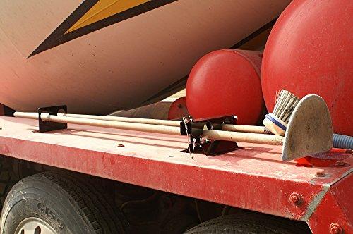 2-Tool Landscape Truck Rack for Shovels, Rakes, Seldge Hammer, Etc.