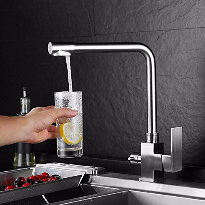 XPYFaucet Wasserhahn Armatur Mischbatterie 304 Edelstahl heies und kaltes Wasser reines Wasser DREI in Einer heien und kalten waschbecken küche