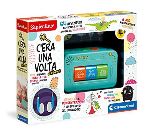 Clementoni - 17435 - Sapientino - C'era Una Volta Deluxe, racconta storie per bambini 4 anni interattivo, storyteller, gioco educativo elettronico, cuffie incluse