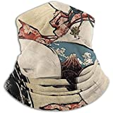 Linger In Samurai japonés con un Cuchillo de Cuello Calentador Cuello Polaina Pañuelo Deportivo