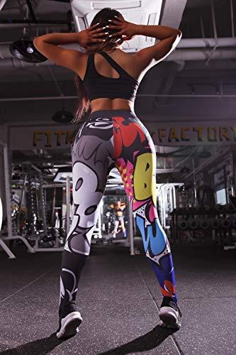 Ayujia 3D De Dibujos Animados Imprimir Cintura Alta Leggins Deporte Mujeres Fitness Adelgazamiento Deporte Leggings Pantalones De Yoga Ropa Deportiva Mujer Gimnasio