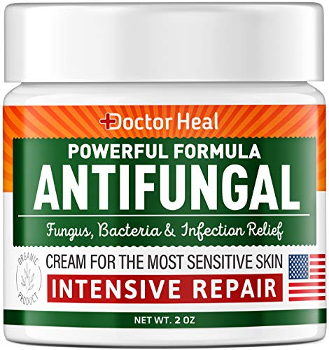 Antifungal Cream for Intensive Repair - Fast-Acting Relief for Fungus, Jock Itch & Athletes Foot - Made in USA - Antifungal Treatment for Burning Relief - Fungus Cream with Tea Tree Oil 2oz