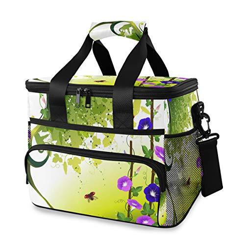LUPINZ, borsa frigo per coccinelle con contenitore per pranzo e picnic con tracolla rimovibile, 15 l
