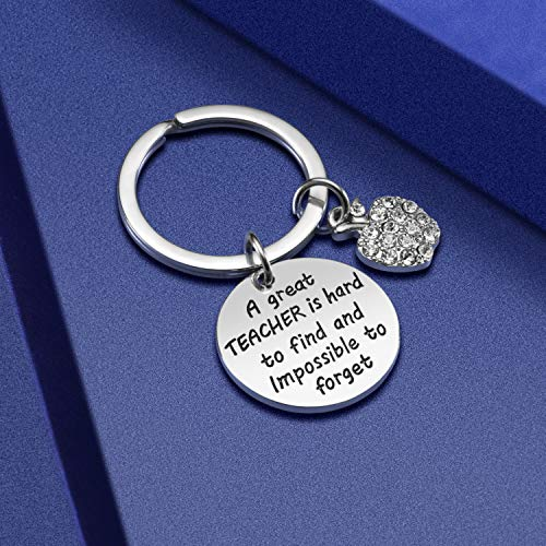 Teacher Appreciation Gift for Women - Teacher Keychain Teacher Jewelry Teacher Gifts,Thank You Gifts for Teacher, Christmas Gifts for Teacher Valentine's Day Gift Photo #5