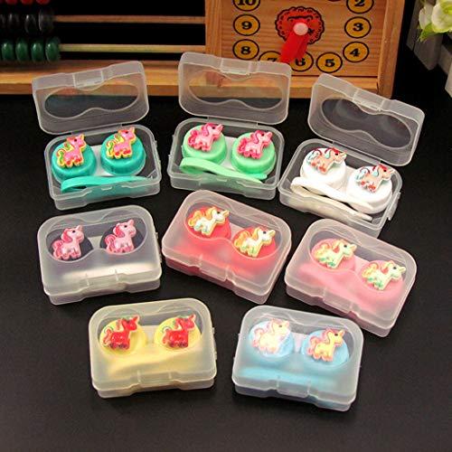 Eliky 1 Set Kontaktlinsenbox Cute CartoonContainer Augenpflege Brillen Organizer