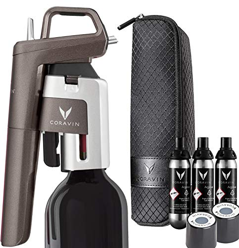Coravin - Model Six Wine Preservation System - 3 Gas Capsules, 2 Screw Caps and Carry Case - Limited Edition IV