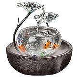 Jiangu Aquarium fontaine d'eau, meuble de bureau, meuble TV, en céramique