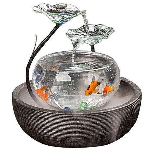 JIANGU Aquarium woonkamer water fontein TV kast kleine ornamenten keramische fontein kantoor desktop creatieve vis tank, 1