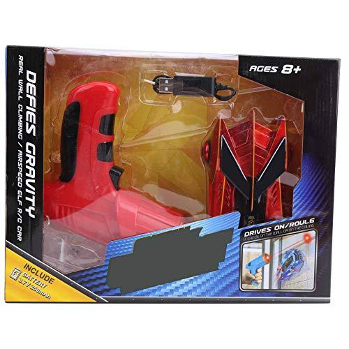 Vehículo de Coche RC, Sensor de luz de Seguimiento infrarrojo Coche de Carreras de Escalada en Las 4 Ruedas Coche de Carreras de Escalada con Control Remoto para niños Niños Niñas(Rojo)