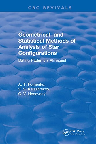 Geometrical and Statistical Methods of Analysis of Star Configurations Dating Ptolemy's Almagest (English Edition)