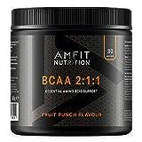 Marca Amazon Amfit Nutrition - BCAA 2:1:1 Sabor a fruta 300 g, 30 porciones