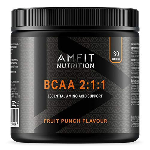 Amazon Brand - Amfit Nutrition - BCAA 2:1:1 - Fruit Punch Flavour 300g, 30 servings