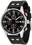 Astroavia Reloj de pulsera para hombre, cronógrafo, cuarzo, con correa de piel, color negro N31L8