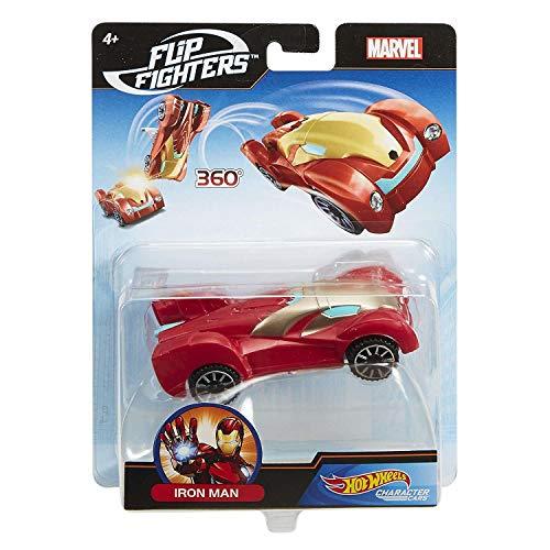 Hot Wheels FLM73 Marvel Flip Fighters Car Surtido