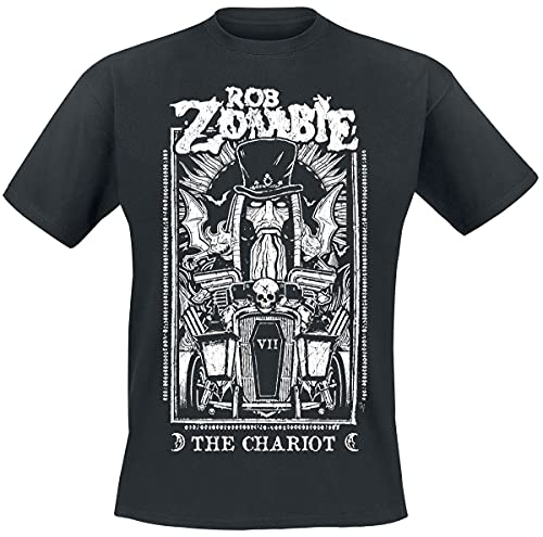 Rob Zombie The Chariot Hombre Camiseta Negro M, 100% algodón, Regular