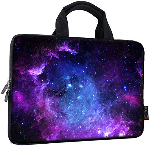ICOLOR 14 15 15.4 15.6 inch Laptop Bag Case Handle chromebook case Sleeve Computer Protect Case Pouch Holder Notebook Sleeve Neoprene Chromebook Cover Soft Carring Travel Case Galaxy ICB-15