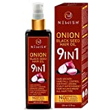 Newish® Onion Hair Oil for Hair Growth for Men & Women (Black Seed/Kalonji)