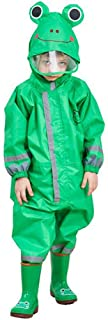 Maleroads Kids Waterproof Rainsuit All in One Puddle Suit Raincoat for Boys and Girls Puddlesuit