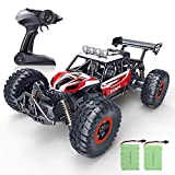 SPESXFUN RC Car, 2020 Newest 1:14 Scale High Speed Remote Control Car, 2.4Ghz Off Road RC Trucks with Two Rechargeable Batteries, Electric Toy Car for All Adults & Kids (RED)