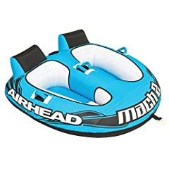 1-2 rider tube for boating & watersports Kwik-Connect - Airhead's patented Kwik-Connect for quick and easy rope connection Partially Covered - Heavy-duty partial nylon cover Speed Safety Valve - For fast and easy inflating and deflating Padded Handle...
