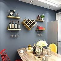portabottiglie parete scaffale vini wall wine rack fissaggio a muro mdf con 4 ripiani galleggianti portabottiglie accessori per bar scaffalature portabottiglie vino,bar bicchieri vino mensola
