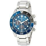 [セイコーウォッチ] 腕時計 プロスペックス ソーラークロノグラフ Save the Ocean Special Edition ブルー文字盤 SBDL059 メンズ シルバー