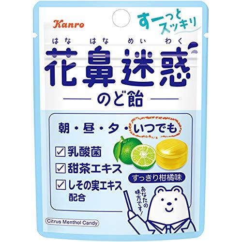 カンロ 花鼻迷惑のど飴 小袋 1箱(6袋)