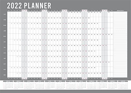 2022 Wall Planner A3 Size (29.7 X 42 Cm) Year Calendar Organiser Runs Jan...
