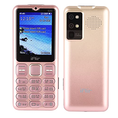 IAIR Basic Feature Dual Sim Mobile Phone with 2800mAh Battery, 2.4 inch Display Screen, 0.8 mp Camera in Twin Shade Colors (IAIRFPS20, Twin Rose Gold)