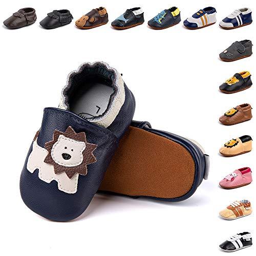 Primeros Pasos Bebe Niña Niños Zapatos Zapatillas de Estar por Casa Pantuflas Calzado Botitas y Patucos Infantiles Piel Sintético Casual Antideslizante 0-24 Meses