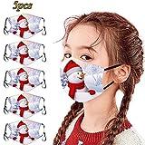Cardi Mundschutz 5Er 3D Weihnachten Gedruckt Waschbar Wiederverwendbare Kinder Mundschutz