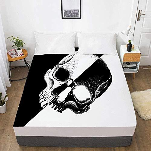 Bedclothes-Blanket 3D Digitaldruck Bettlaken Matratze Schutzhülle Schädel Bettwäsche-200x200_22