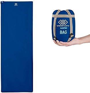 حقائب نوم WERTYCITY ، واحدة من أصغر وأخف كيس نوم في الطقس الدافئ ، صغيرة للغاية للاستخدام في الأماكن المغلقة أو الهواء الط...