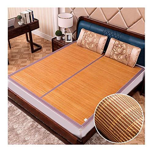 Kylning Topper Bäddmadrass Sommar sovmatta Karbonisering Bambu Mat Is Silk Pad Fällbar Bekväm Formaldehyd Gratis, Flera Stilar (Color : H, Size : 1.2x1.95m (4 ft))