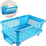Simxen New Draining Tray Dish Drainer Drying Rack Tray Sink Holder Basket Knife