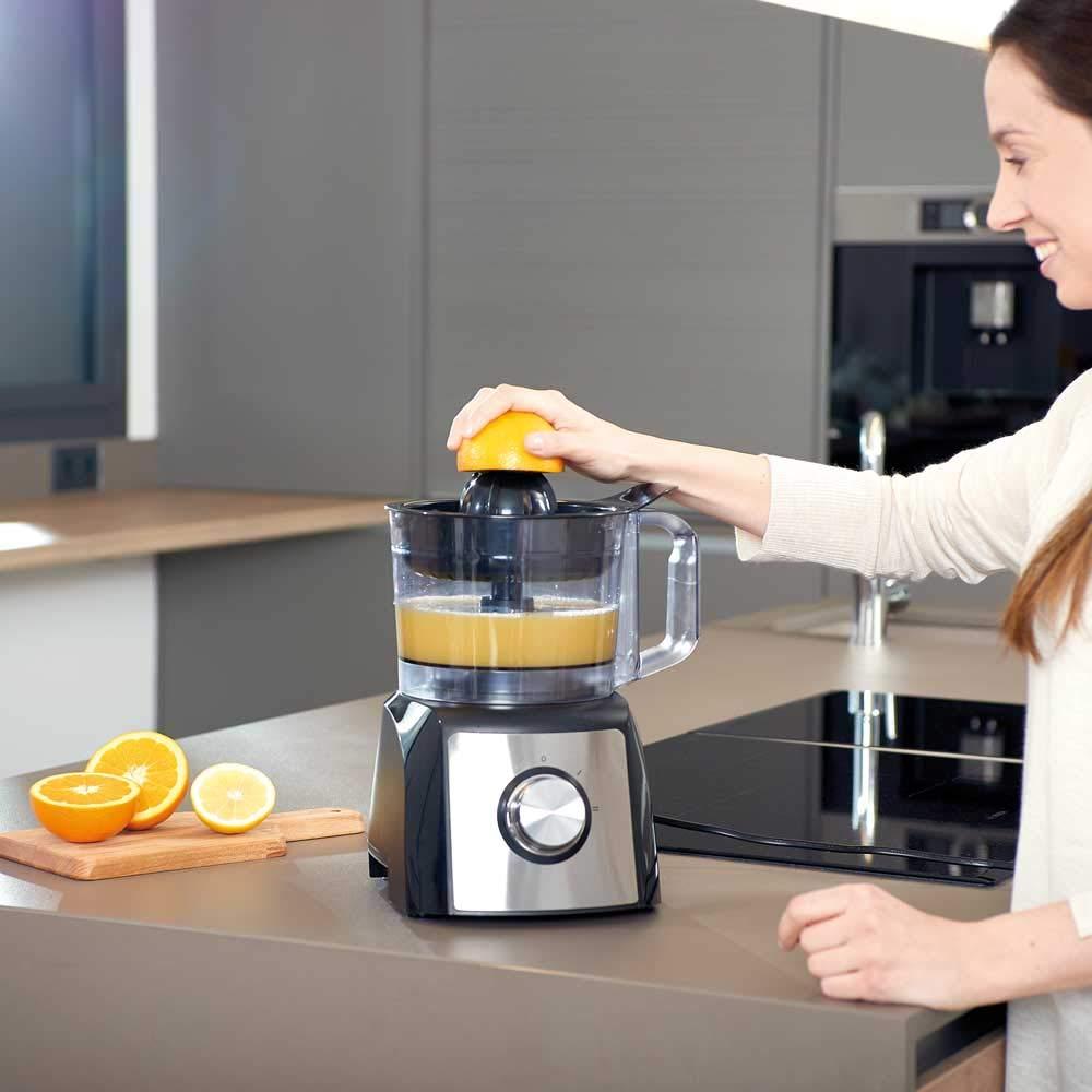 Black+Decker BXFPA1200E Procesador de Alimentos, 1200 W, Acero Inoxidable, INOX + Gris: Amazon.es: Hogar