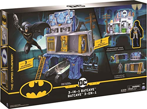 Spin Master Batman 3-in-1 Batcave Playset with Exclusive Batman Action Figure and Battle Armor