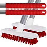 2 Pack of Red Stiff Bristled Deck Sweeping <span class='highlight'>Brush</span>es With Strong Metal Handles For <span class='highlight'>Decking</span>, Patios, Tiles & Stables by The Chemical Hut (Red)