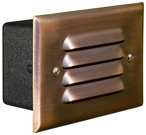 Dabmar Lighting LV617-CP Copper Recessed Louvered Brick/Step/Wall Light